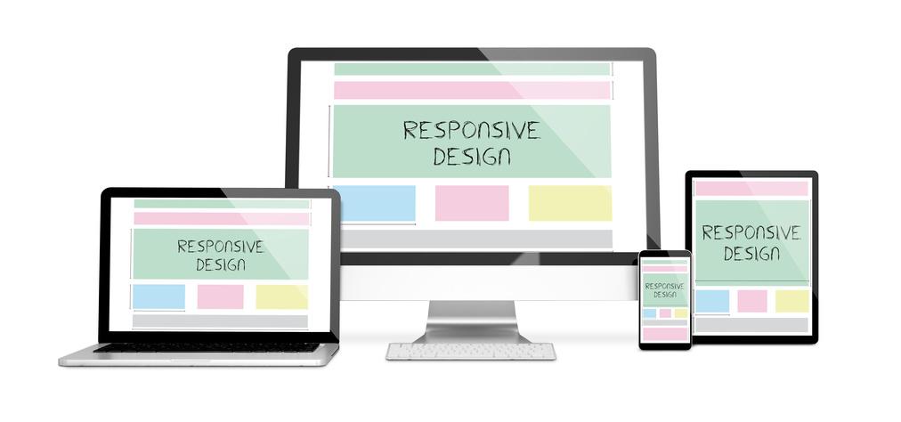Wir verwenden responsive Design für alle gängigen Geräte